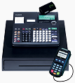 Casio Cash Register integrated Credit Card Processing